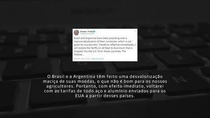 Trump acusa Brasil de desvalorizar o real e diz que vai impor tarifas sobre aço e alumínio