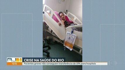 Parentes lutam transferir pacientes internados em UPA de Sepetiba