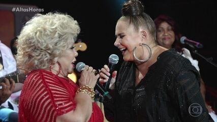 Alcione e Fafá de Belém cantam 'Sufoco' no palco do 'Altas Horas'