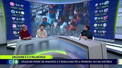 Comentaristas do Troca de Passes falam sobre a queda do Cruzeiro.