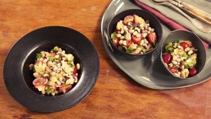Salada de bacalhau com feijão fradinho: receita da Rita Lobo