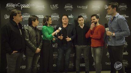 Pedro Leonardo e Cris Ikeda entrevistam os Amigos