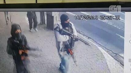 Vídeo mostra ação de grupo em banco na Zona Sul de SP