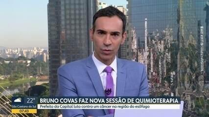 Bruno Covas faz nova sessão de quimioterapia