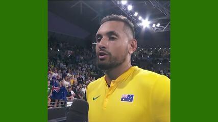 Após vitória no ATP Cup, Nick Kyrgios chora ao comentar os incêndios na Austrália