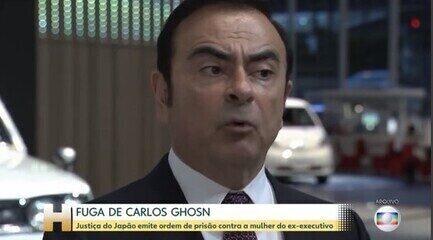 Promotoria do Japão emite ordem de prisão para a mulher de Carlos Ghosn