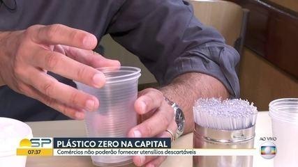 Prefeito vai sancionar lei que proíbe plásticos em estabelecimentos comerciais