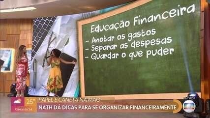 Nath Finanças dá dicas de educação financeira