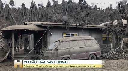 Sobe para 38 mil o número de pessoas desalojadas por causa do vulcão Taal nas Filipinas
