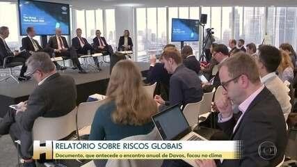 Fórum Econômico Mundial divulga relatório sobre riscos globais