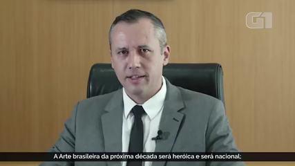 Secretário da Cultura Roberto Alvim cita frase de Joseph Goebbels em discurso
