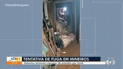 Quatro suspeitos de cavar túnel para dar fuga a presos morrem em troca de tiros, em Mineiros