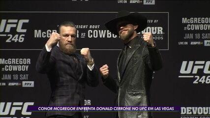 Conor McGregor enfrenta Donald Cerrone no UFC em Las Vegas