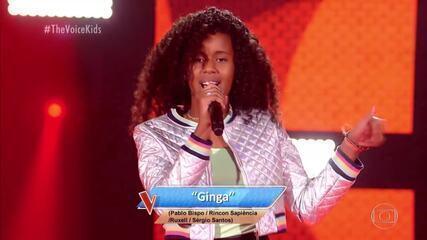 Karen Silva canta 'Ginga' nas Audições às Cegas