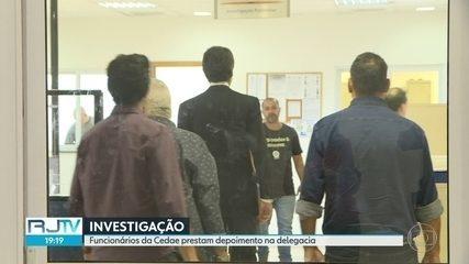 Funcionários da Cedae prestam depoimento em inquérito policial.
