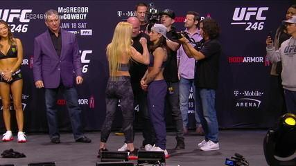 Peso-galo: Holly Holm (61,5kg) x Raquel Pennington (61,7kg)