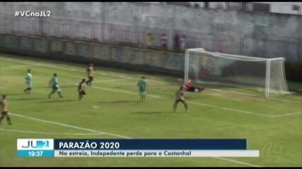 Gols de Independente-PA 2 x 3 Castanhal, na abertura do Parazão 2020