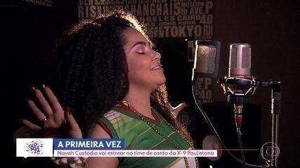 Cantora Nayah Custódio vai estrear no time de canto da X-9 Paulistana
