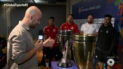 Técnicos e capitães de Inter e Grêmio sub-20 falam sobre a final da Copa São Paulo