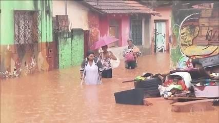 Chuva recorde na Grande Belo Horizonte deixa mortos e destruição