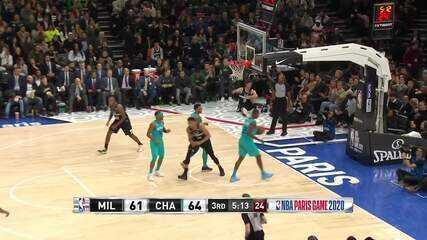 Melhores momentos: Charlotte Hornets 103 x 116 Milwaukee Bucks, pela NBA