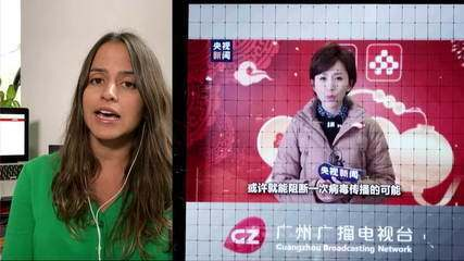 TV chinesa divulga série de vídeos sobre o coronavírus