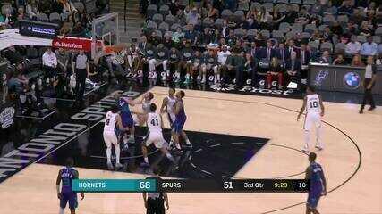 Melhores momentos de San Antonio Spurs 114 x 90 Charlotte Hornets pela NBA
