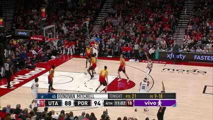 Melhores momentos de Portland Trail Blazers 124 x 107 Utah Jazz pela NBA no dia 01/02/2020