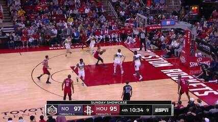 Melhores momentos de Houston Rockets 117 x 109 New Orleans Pelicans pela NBA