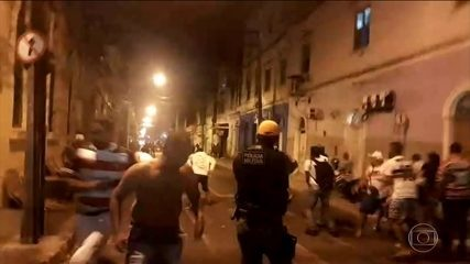 Torcedores de Sport e Santa Cruz se envolvem em confusão no Centro do Recife