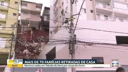 Mais de 70 famílias são retiradas de casa em Taboão da Serra