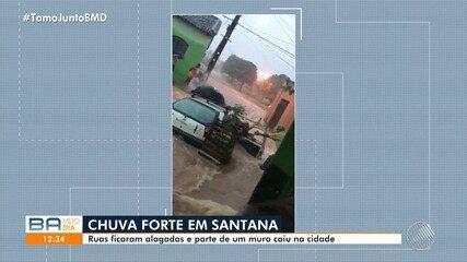 Chuva forte causa prejuízos na cidade de Santana, no oeste do estado