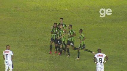 Confira os gols do empate entre Santos-AP x América-MG pela Copa do Brasil