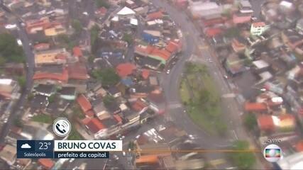 Bruno Covas faz balanço dos danos causados pela chuva em SP nesta segunda-feira (10)
