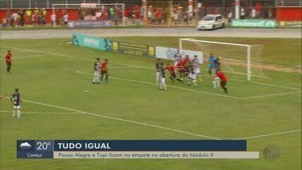 Pouso Alegre estreia com empate no Módulo II do Mineiro