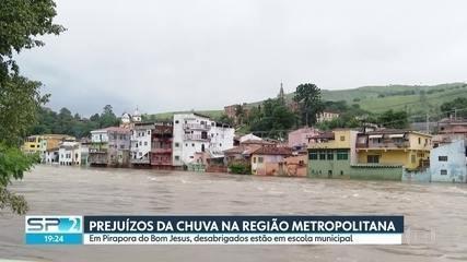 Temporal deixou desabrigados na Região Metropolitana de São Paulo