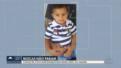 Buscas por menino de 2 anos continuam em Juatuba, na Grande BH