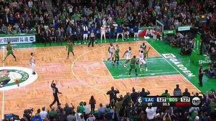 Melhores momentos: Boston Celtics 141 x 133 Los Angeles Clippers, pela NBA