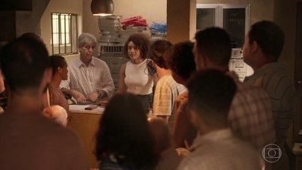 Vitória e Miguel se reúnem com os moradores de Guaporim