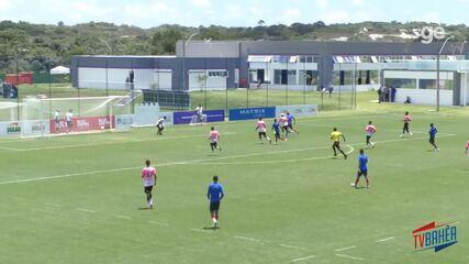 Vídeo: Time do Bahia realiza jogo-treino com a seleção de São Sebastião do Passé