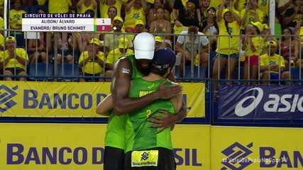 Pontos finais de Alison/Álvaro 1 x 2 Evandro/Bruno Schimdt pelo Circuito Brasileiro de vôlei de praia