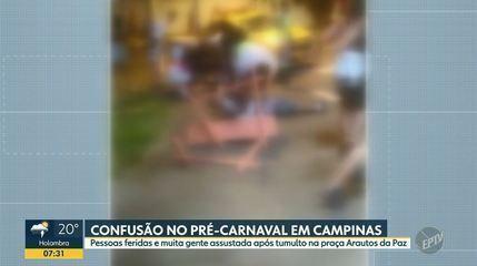 Pré-carnaval em Campinas tem tumulto e confusão