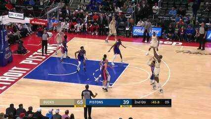 Melhores momentos de Milwaukee Bucks 126 x 106 Detroit Pistons pela NBA