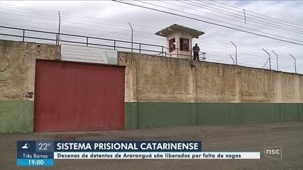 Quase 70 detentos que deveriam estar no Presídio de Araranguá estão soltos
