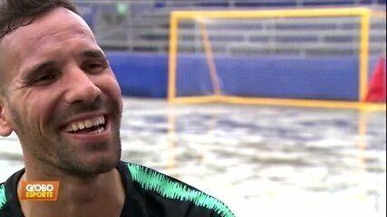 Conhece o Jordan do futebol de areia? Domingo tem Brasil x Portugal