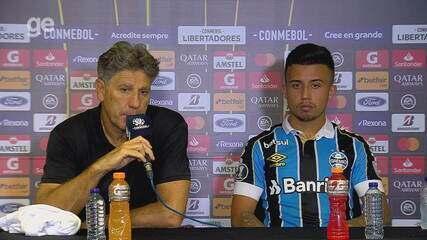 Confira e entrevista coletiva de Renato e Matheus Henrique após vitória na Libertadores