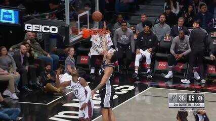 Melhores momentos: Brooklyn Nets 139 x 121 San Antonio Spurs pela NBA