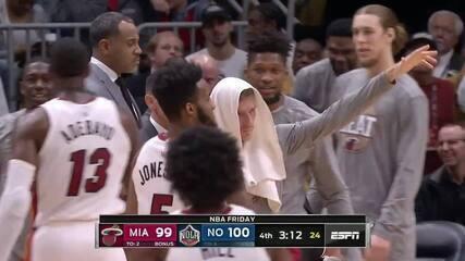 Melhores momentos: New Orleans Pelicans 110 x 104 Miami Heat pela NBA