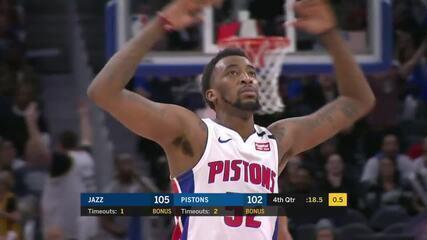 Melhores momentos: Utah Jazz 111 x 105 Detroit Pistons pela NBA