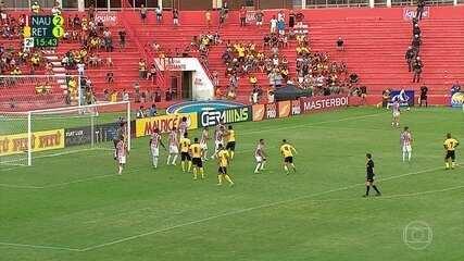 Veja os melhores momentos do empate em 2 a 2 entre Náutico e Retrô